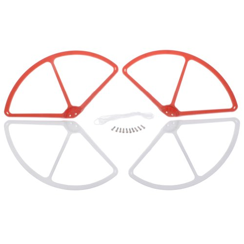Neewer Red&White Propeller Blades Prop Protective Guard Protector Cover for DJI Phantom Vision 2