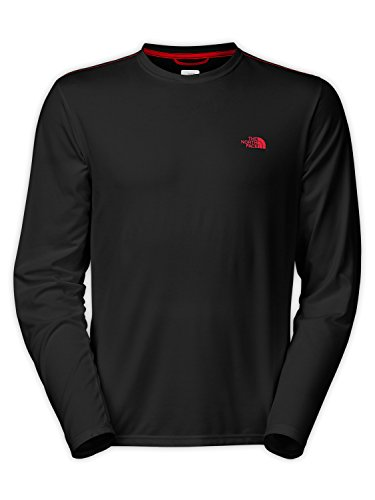 The North Face Long Sleeve Reaxion Amp Crew Men'S Tnf Black/Tnf Red L
