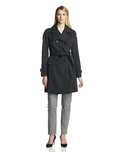 Ellen Tracy Women's Belted Peplum Trench Coat