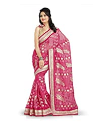 Light Pink Royal Net Party Wear Saree