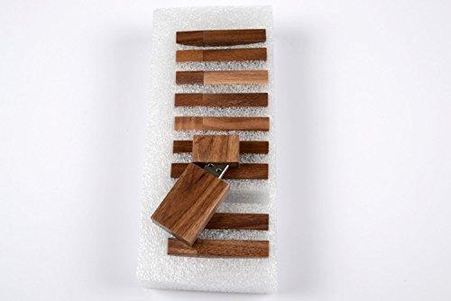 10 8GB Flash Drive - Bulk Pack - USB 2.0 Wooden Walnut Stick Design - 8 GB Flash Drive