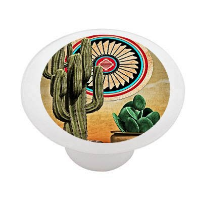 southwestern-cactus-and-pots-decorative-high-gloss-ceramic-drawer-knob