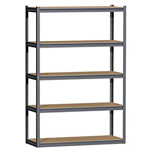 Gorilla Rack GRZ8460-5 5-Shelf 48-by-18-by-72-Inch Shelving Unit