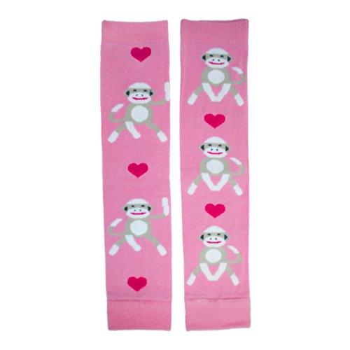 Hugglugs Girls Pink Sock Monkey Legwarmers