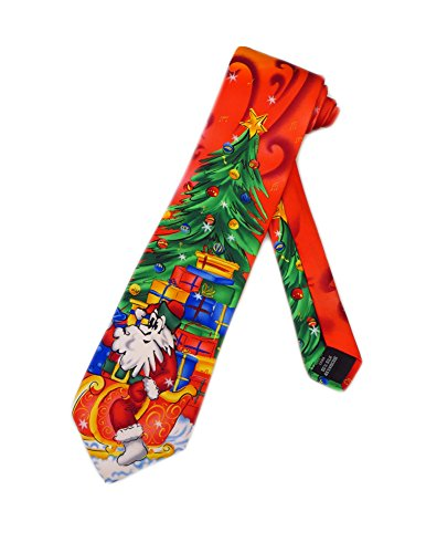 Jerry Garcia Christmas Santa Necktie - Red - One Size Neck Tie (Jerry Garcia Christmas Ties compare prices)