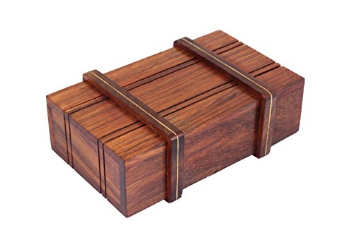Classy Hand Crafted Wooden Box with a Sliding Compartment