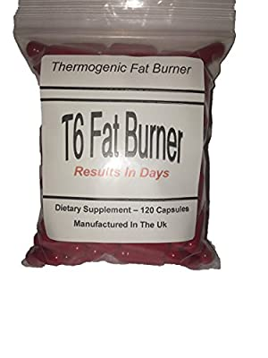 T6 fat burners x 120 capsules -***** BUY 2 GET 1 FREE *****weight loss-red- thermogenic