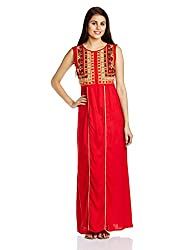 Fusion Beats Women's A-Line Dress (E515EMBD12Y RED S)