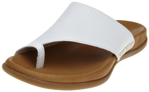 Gabor Women's Lanzarote White Open Toe Flats 43.700.51 6 UK