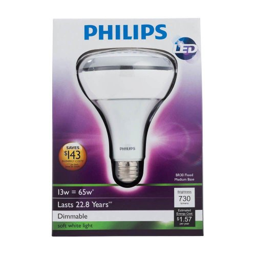 13-Watt (65W) Br30 Indoor Soft White (2700K) Dimmable Led Flood Light Bulb (2-Pack) (E)-Philips Lighting Company-432724