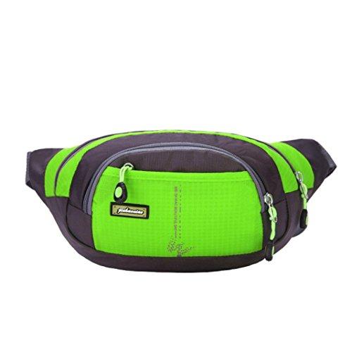 Iuhan® Fashion New Running Bum Bag Travel Handy Hiking Sport Fanny Pack Waist Belt Zip Pouch (Green)