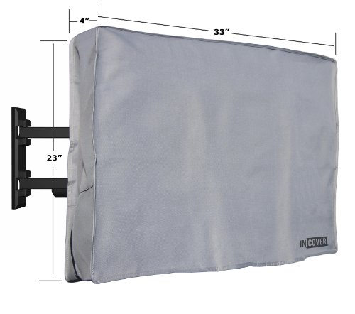 "Discover Bargain InCover 32"" Outdoor TV Cover - Water and Dust Resistant - Fits over most TV Mo..."