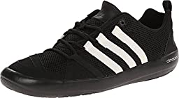 adidas Outdoor Unisex Climacool Boat Lace Water Shoe, Black/Chalk White/Silver Metallic, 11.5 M US