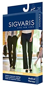 500 Natural Rubber 40-50 mmHg Open Toe Unisex Thigh High Sock without Grip-Top Size:... by Sigvaris
