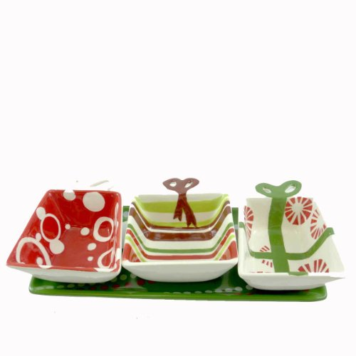 Tabletop Under The Tree Condiment Set Christmas - Christmas 2.50 IN