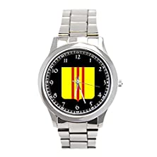 buy South Vietnam* Custom Stainless Steel Wrist Watches