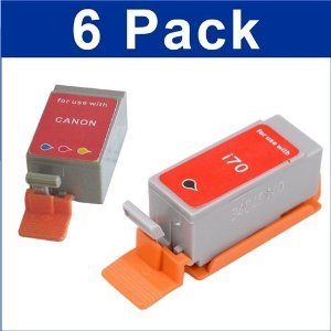 6 PK COMPATIBLE BCI-15 BCI-16 BLACK+COLOR INK FOR CANON PIXMA IP90