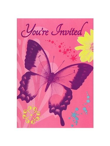 Butterfly Chic Invitations w/ Envelopes (8ct)