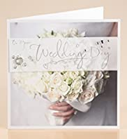 Photo Wedding Bouquet Card