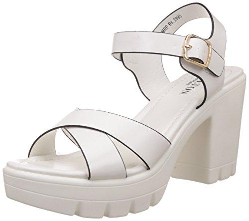 Carlton London Women's Margaret White Fashion Sandals - 8 UK/India (41 EU)(CLL-3378)
