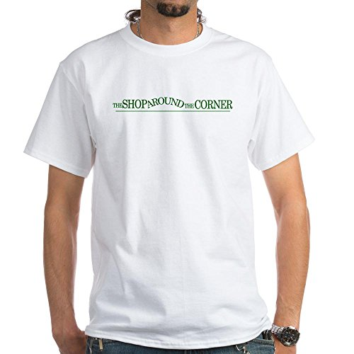 CafePress - The Shop Around The Corner White T-Shirt - 100% Cotton T-Shirt, Crew Neck, Comfortable and Soft Classic White Tee with Unique Design