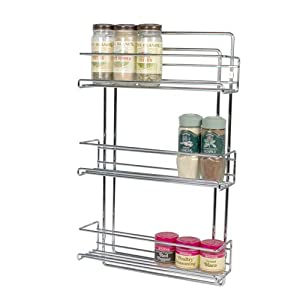 Amazon Com 3 Tier Wall Mounted Spice Rack Kitchen Amp Dining
