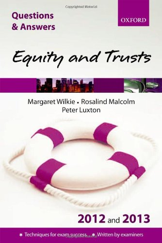 Q&A Equity and Trusts 2012 and 2013 (Questions & Answers)