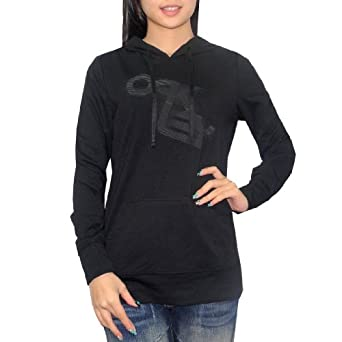 OAKLEY Damen WARM SURF & SKATE PULLOVER HOODIE Sweatshirt-Jacke Small schwarz