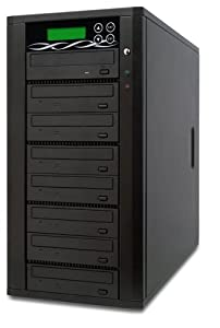 Spartan Edge 1-7 Target DVD/CD Copy Tower Duplicator with 24x SATA Writer Burners D07-SSP (Black)