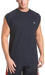 Champion Men's Jersey Muscle T-Shirt, Navy,X-Large