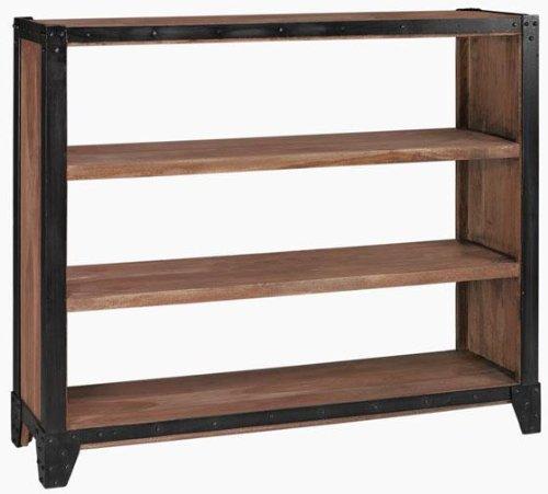 "Upton Wide Bookcase, 44""Hx50""W, RECLAIMED"