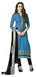 Vaidehi Fashion Light Blue And Black Dress Material