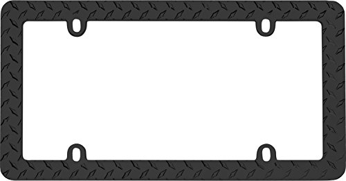 Cruiser Accessories 30850 Matte Black 'Diamond' License Plate Frame (Diamond Plate License Plate Frame compare prices)