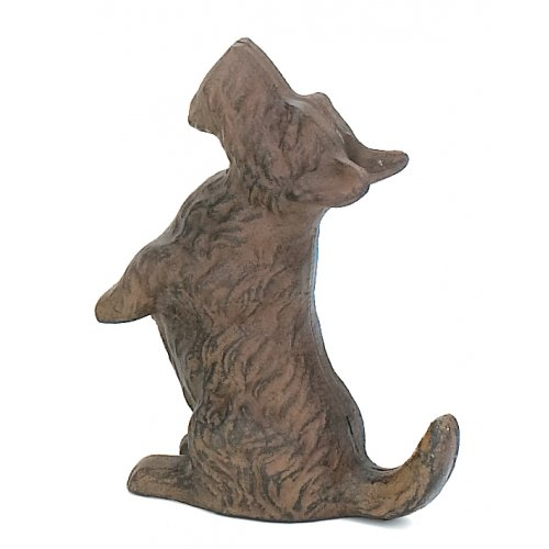 Cast Iron Scottie DOG Playful Begging Door Stop Wagging Tail Upper Deck (Cast Iron Dog Door Stop compare prices)