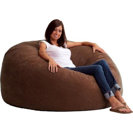 King 5' Fuf Comfort Suede Bean Bag Chair, 54