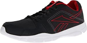 Reebok Men's Trainfusion RS Cross-Training Shoe,Gravel/Excellent Red/White,10.5 M US