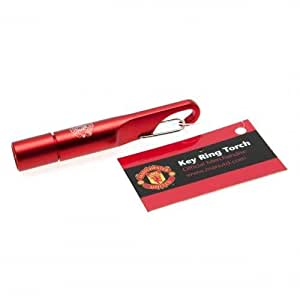 Official Manchester United FC Keyring Torch - A great gift / present for men, boys, sons, husbands, dads, boyfriends for Christmas, Birthdays, Fathers Day, Valentines Day, Anniversaries or just as a treat for and avid football fan