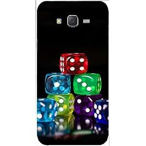 Casotec 20 Dice Design Hard Back Case Cover for Samsung Galaxy J2