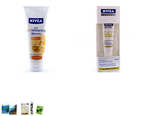 Special Set :Nivea Uv White Serum Body Lotion 220Ml. Plus Nivea Visage Anti-Wrinkle Q10 Plus Eye Cream 15Ml L