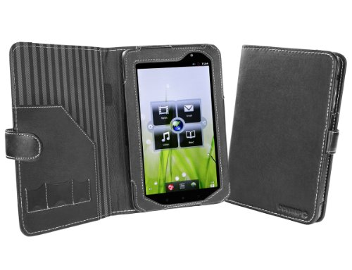 Cover-Up Lenovo IdeaPad A1 / A1107 7-inch Tablet Cover Case (Book Style) - Black at Electronic-Readers.com