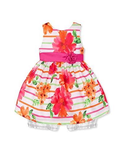 American Princess Kid's Striped Shantung Dress