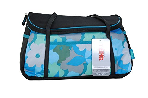 Thermos Insulated Lunch Bag Cooler Insulated Tote Bag Comfort With Straps (Blue Flora) front-1025318
