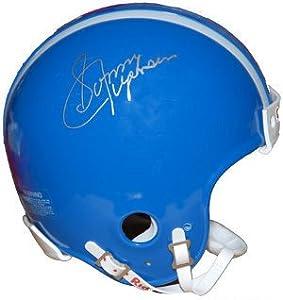 Sonny Jurgensen signed Duke Blue Devils Throwback Mini Helmet