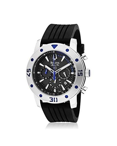 Bulova Men's 98B165 Marine Star Black/Grey Polyurethane Watch