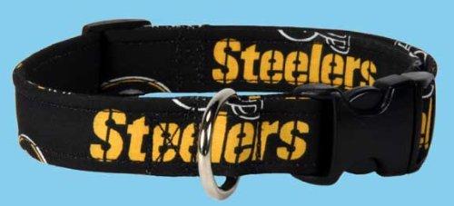 Country Brook Design Steelers Custom Handmade Designer Dog Collar