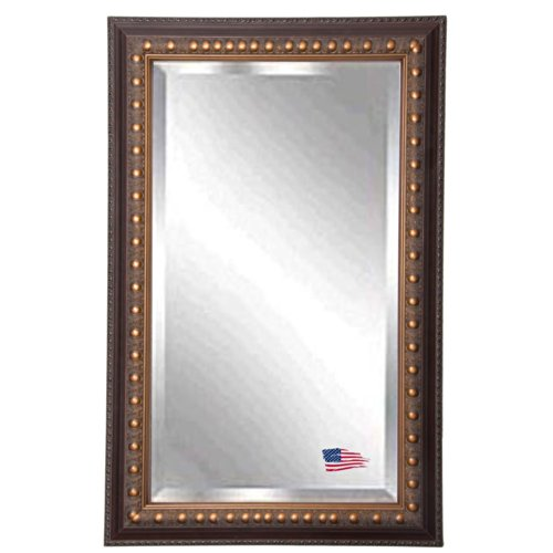American Made Rayne Traditional Cameo Bronze Beveled Wall Mirror, 21.5 X 33.5 front-547531