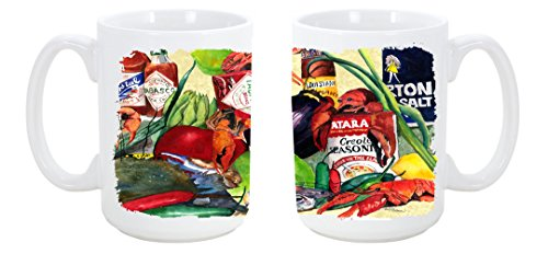 Caroline'S Treasures Spices And Crawfish Dishwasher Safe Microwavable Ceramic Coffee Mug 15 Ounce 1020Cm15 Made Or Printed In The Usa