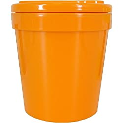 Zak Designs 1-Pint Insulated Ice-Cream Tubbie with Freezable Gel Lid, Orange