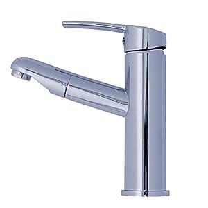 Amzdeal miscelatore per lavello da cucina monocomando - Rubinetto estraibile bagno ...