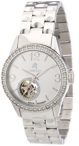 Carucci Watches Women's Automatic Watch ALESSANDRIA CA2197SL with Metal Strap